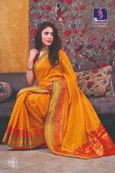 Casual Handloon Cotton Sarees with Blouse Piece