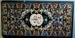 Marble Inlaid Dining Table