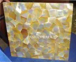 Yellow Mother Of Pearl Overlay Tiles