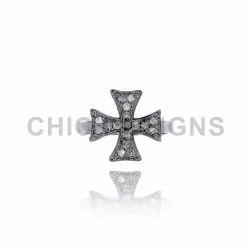 Maltese Cross Mid Ring