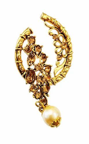 18eb0ba211d Fashion Empire Gold Plated Chandbali Pearl Kundan Jhumka Jhumki Earrings  For Women