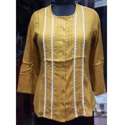Ladies Yellow Casual Top