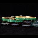 Leafy American Diamond Bangles