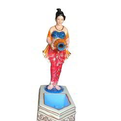 FRP Lady Water Statue