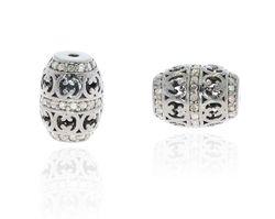 Pave Diamond Spacer Beads