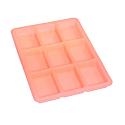 125 gms - Rectangle - 9 Cavities - Silicone Soap Mold