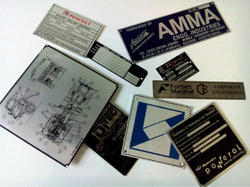 Etched Metal Label