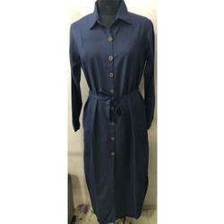 Casual Dark Blue Ladies Robe