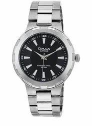 OMAX Analog Black Dial Men's Watch - SS420