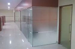 Frosted Glass Partition Work