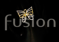 American Diamond Butterfly Finger Ring