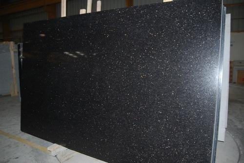 Polished Granite Black Black Galaxy Granite Manufacturer From