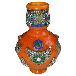 Marble Flower Pot With Stone Work