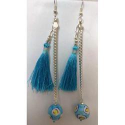 Blue Pottery Earrings