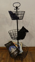 Knock Down 3- Tier Iron Wire Storage Basket