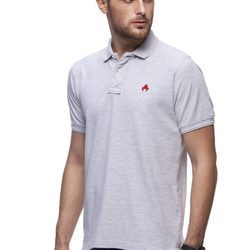 8273e9941 Men melange polo t shirts made of breathable cotton pique that makes you  feel great to the skin. Sewed in a way that the correct size will fit you  ...