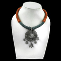 Antique Stunning Rich 925 Sterling Silver Necklace