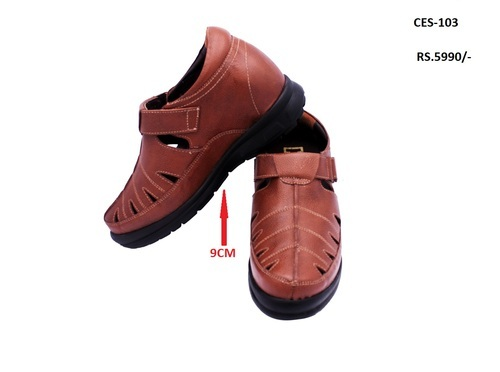 Height Increasing Elevator Sandals - Celby Genuine Leather Height  Increasing Sandal Manufacturer from Delhi
