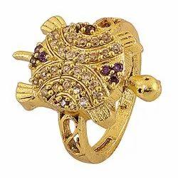 Designer Unisex Party Wear Tortoise Shape Brass Ring