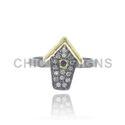 Diamond Hut charm Mid Ring