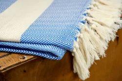 Cotton Heringbone Blanket