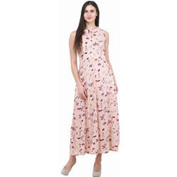 Pink Printed Gown