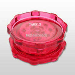 Red Acrylic Herb Grinder