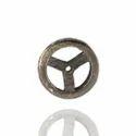 Pave Diamond Wheel Beads