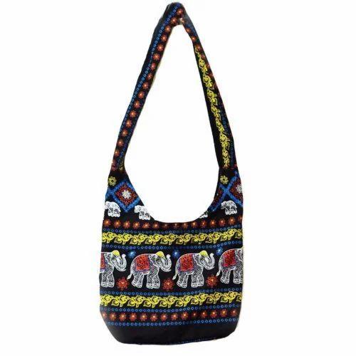 be2d4c4059 Cotton Canvas Shoulder Bags - Shoulder Hippie Bag Manufacturer from ...