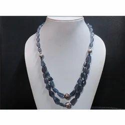 Iolite Gemstone Beaded Necklace