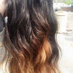 Temple Half Golden Half Black Hair