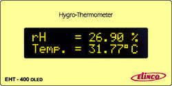 Hygro Thermometer Model No.EHT-400-OLED