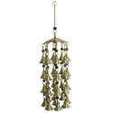 Brass Wind Chime With Bells and Glass Beads