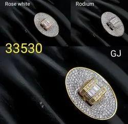Cubic Zirconia Finger Ring
