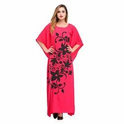 Cottinfab Printed Long Night Dress