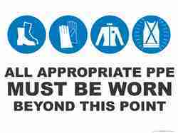 PPE Sign Board