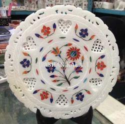 Marble Stone Pietra Dura Plates