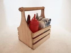 Cutlery, Napkin & Sauce Bottle Holder