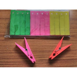 Colored Clothesline Clips