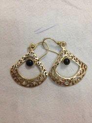 Brass Stone Fashion Earring