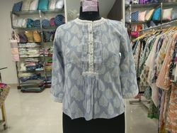 Hand block printed top