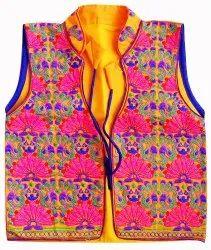 Sleeveless Embroidered Koti- Gujarati koti - Jacket - Embroidered Vest