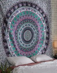 Gypsy Mandala Printed Cotton Bed Sheet Tapestry