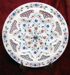 Stone Inlay Marble Decorative Plate