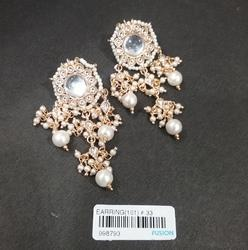 Antique Designer Pearl Kundan Earrings