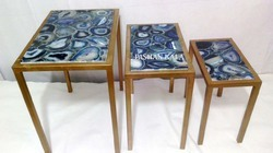 Gemstone Blue Agate Table