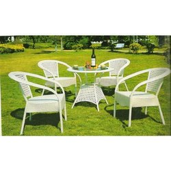 PE Rattan Chair Set