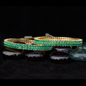 Emerald American Diamond Bangles