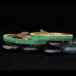 Emerald American Diamond Bangles