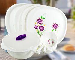Printed Plastic Dinner Set
